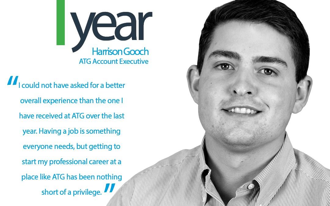 Happy 1-Year ATG Anniversary to Harrison Gooch, ATG Account Executive