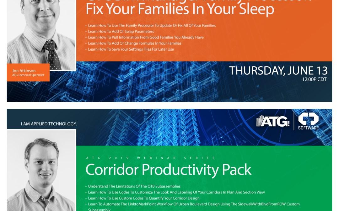 ATG Webinars: CTC BIM Manager Family Processor & Corridor Productivity Pack