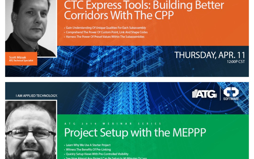 Two ATG Webinars On Thursday: CTC Express Tools: Building Better Corridors With The CPP & Project Setup With The MEPPP- 4/11/19