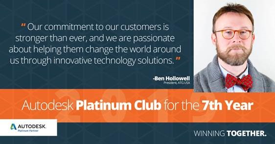 ATG USA Achieves Autodesk Platinum Club for the 7th Year