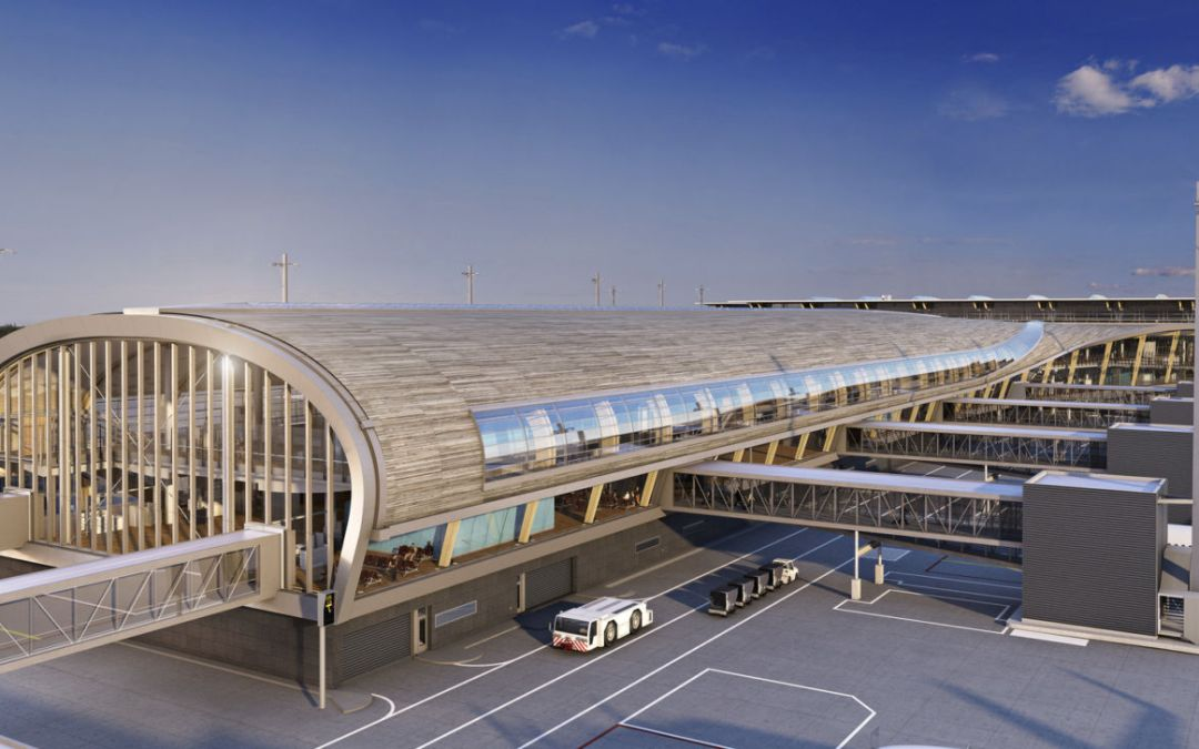 Innovative design for Oslo Airport expansion reduced energy consumption by half
