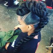 braided mohawk hairstyles edgy