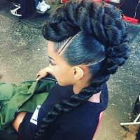 Braided Mohawk Hairstyles: Edgy Dos for Black Hair