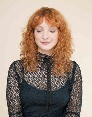 curly hair bangs 9 trendy hairstyle