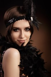 flapper hairstyles long