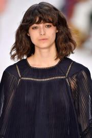 wavy hair with bangs easy