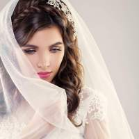 Wedding Hairstyles Half Up Down With Braid And Veil ...