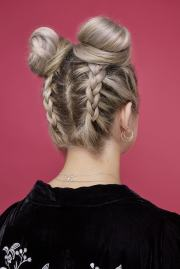 easy and -trend bun hairstyles