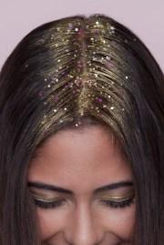 glitter roots step-step