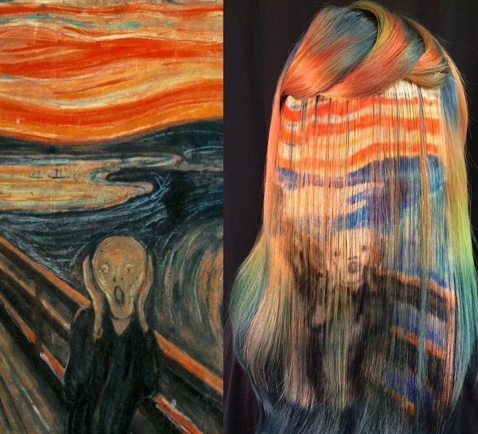 Woman Dyes Hair To Resemble Famous Pieces Of Artwork All