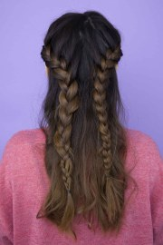 unusual and stunning french braid