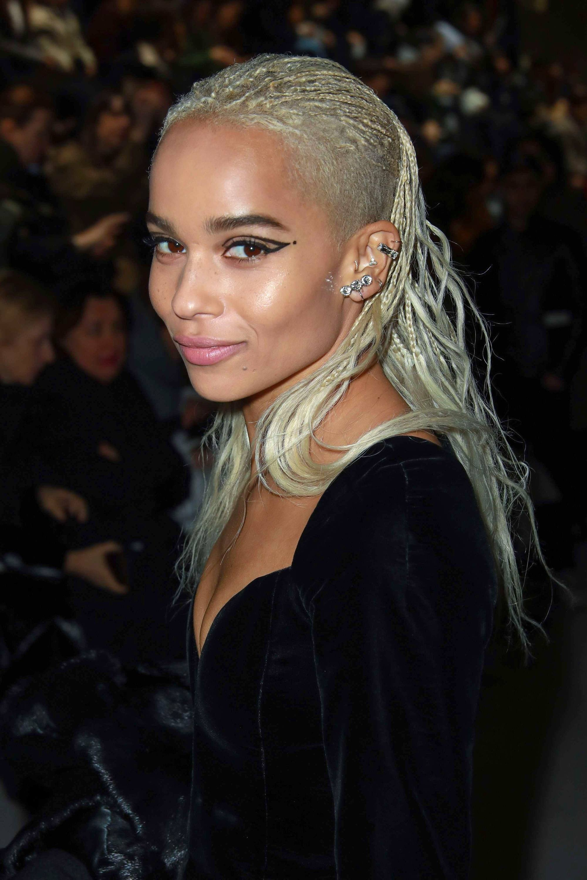Zoe Kravitz Has Been Experimenting With Her Undercut Hair