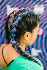 Coloured braids: 24 box braids & plaited styles with ...