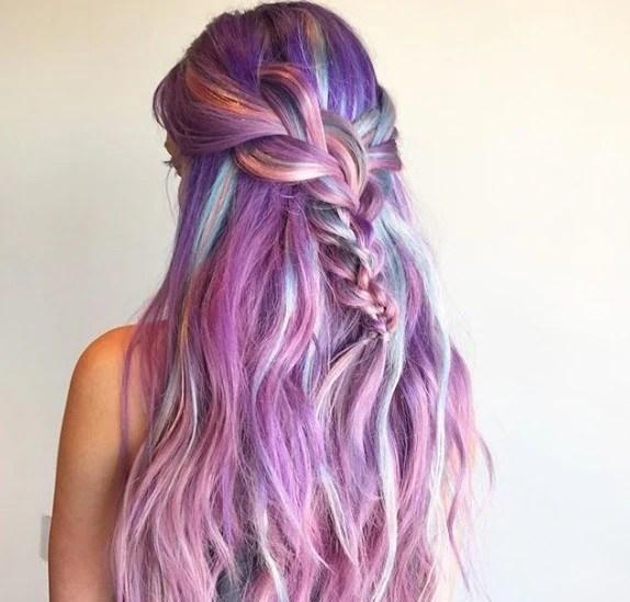 Coloured braids: 24 box braids & plaited styles with