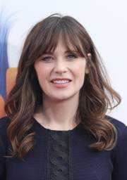 wavy hair with bangs 7 star studded