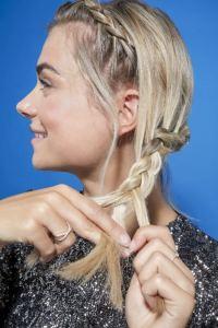 How to crown braid on short hair: Easy video tutorial