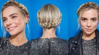 How to crown braid on short hair: Easy video tutorial