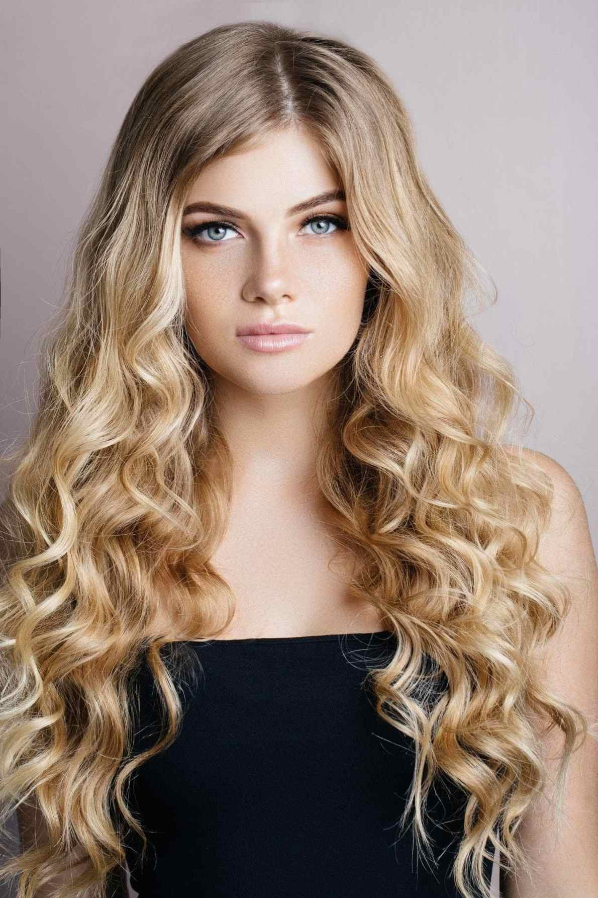 golden blonde hair sombre