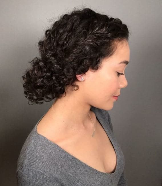 17 Cute And Easy Curly Updos For Curly Hair