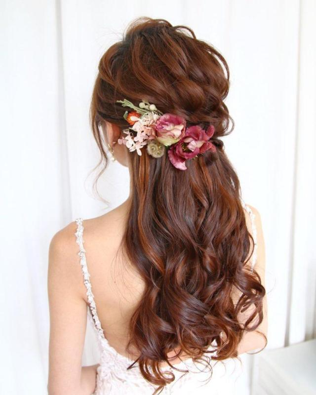 23 stunning half-up, half-down wedding hairstyles   all