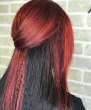 popular red and black hair colour