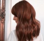 flattering cinnamon hair colour