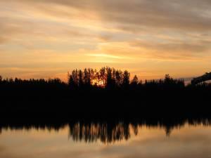 Koyukuk River sunset in interior Alaska