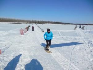 Shirley Sam in a snowshoe race in Allakaket. Courtesy photo