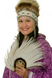 Mary Lou Rock wears traditional Yup'ik regalia. Photo courtesy of Mary Lou Rock