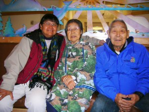 Marlene Watson met an elder couple, Sam and Carrie Herman, from the Bering Straits region at the Alaska Native Medical Center. Courtesy photo