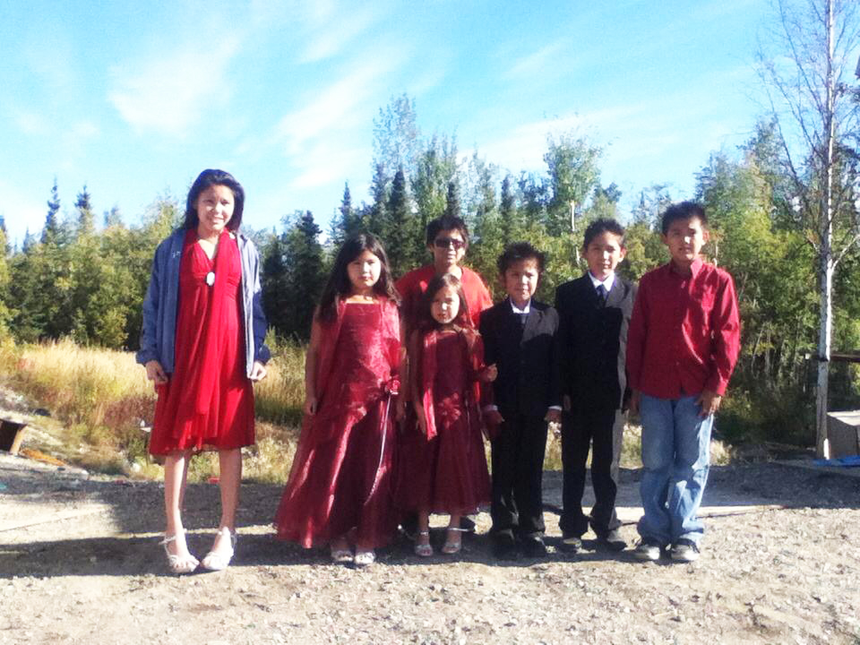 Here are some children who were a part of Michelle and Russ' wedding in Old Alatna. Photo by Tanya Yatlin