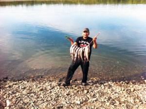 PJ Simon got some white fish for elders of Allakaket. Courtesy photo