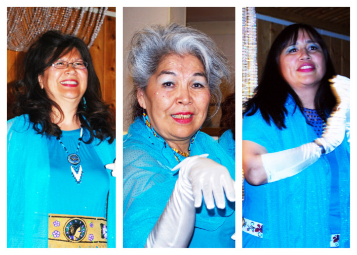 Athabascan Supremes: Sonia Vent, Amy Modig and Angela Gonzalez. Photos by Joie Brown