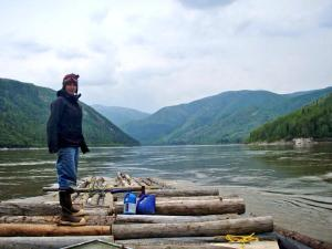Courtney Agnes stands on a raft on the Yukon River. Courtesy photo