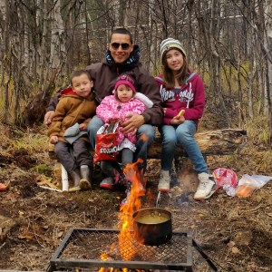Ricko DeWilde and his children enjoy spending time outside. Courtesy photo