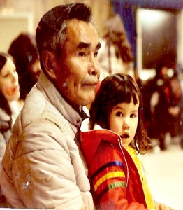 """Jessica Edwin sits with her grandfather, Hector Ewan. Jessica says, """"My grandfather influenced my life choices in many ways and I always wanted to make him proud, even though he passed when I was just eight."""" Courtesy photo"""