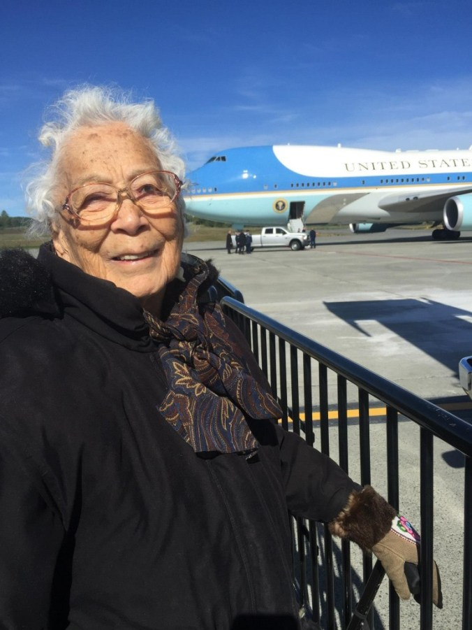 Poldine Carlo with Air Force One. Photo by Sylvia Lange