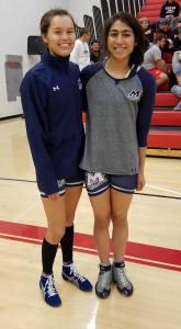 Angniq Woods-Orrison and her teammate Cheynell Kawaihai. Courtesy photo