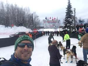 Colin Tass'aq McDonald's selfie at the 2019 Iditarod start in Willow.