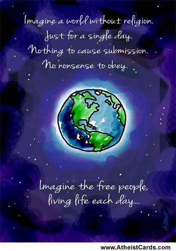 Earth Imagine Atheist Cards