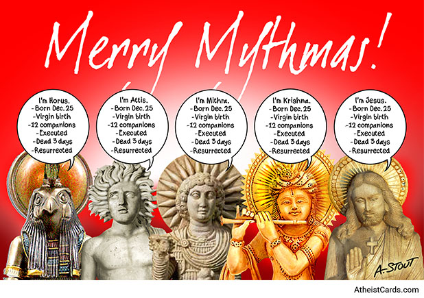 Merry Mythmas Atheist Cards