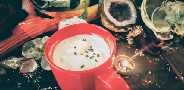 Lavender hot chocolate for fertility and self love