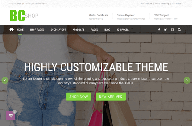 BC Shop WordPress Theme