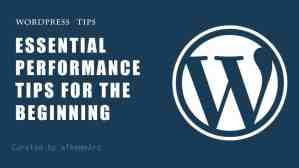 Essential Performance Tips for the beginning user of WordPress