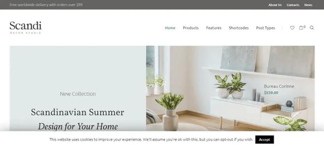 Scandi - Decor and Furniture Shop WooCommerce Theme