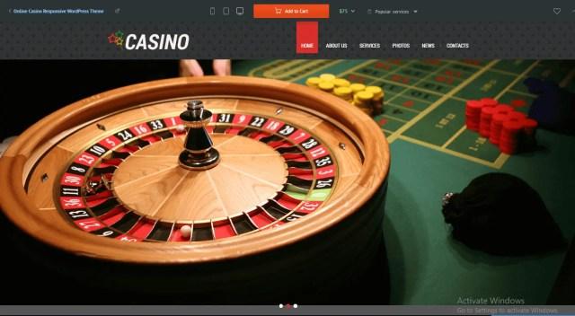 Preview screenshots of Online Casino Responsive WordPress Theme