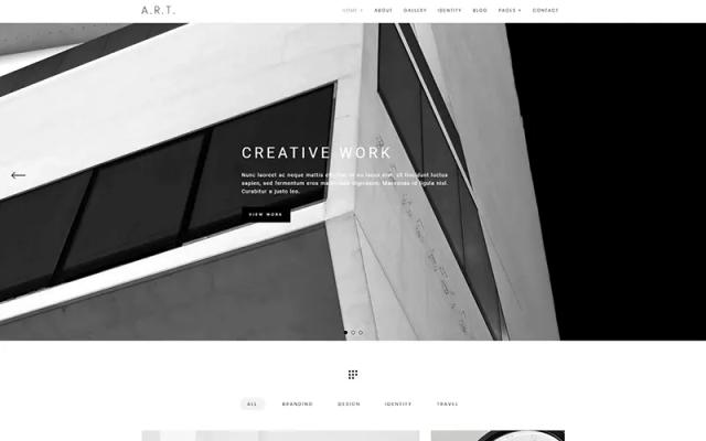 Art simple WordPress themes