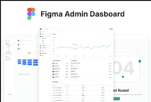 Figma Admin Dashboard - Best from other free figma website templates