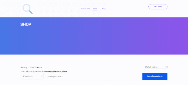 AJAX Search - WooCommerce product search
