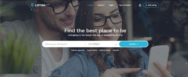 WordPress service finder theme